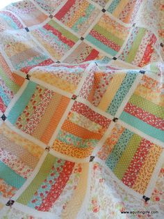 One JR plus side-setting yardage and sashing Jelly Roll Quilt | Dreamin' | A Quilting Life | Bloglovin'