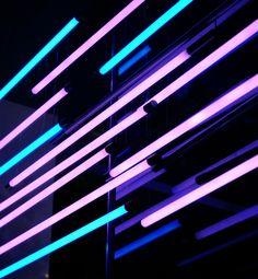 iluminación con tubos fluorescentes