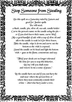 Magick Spells: Stop Someone from Stealing Magick Spells, Wicca Witchcraft, Healing Spells, Spells For Beginners, White Magic Spells, Protection Spells, Witch Spell, Practical Magic, Magic Words