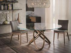 Tavolo rotondo in cristallo CARIOCA by Cattelan Italia design Andrea Lucatello