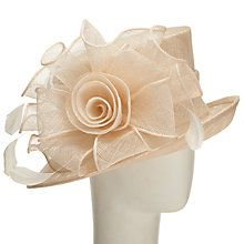 Buy John Lewis Louisa Twisted Flower Occasion Hat, Champagne Online at johnlewis.com