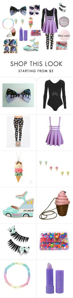 """""""Ice Cream Dreamer"""" by thelittlefanthatcould ❤ liked on Polyvore featuring Ivy Park, ZooShoo, Kate Spade, Timmy Woods, Dylan's Candy Bar, Accessorize, Forever 21 and Essie"""