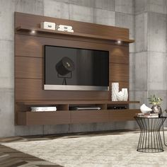 """Lowest price online on all Manhattan Comfort Cabrini 1.8 Series 71"""" TV Stand in Nut Brown - 23751"""