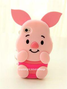 Funda de cerdito (Winnie de Pooh). Para iPhone / pig's case (Winnie the Pooh)…