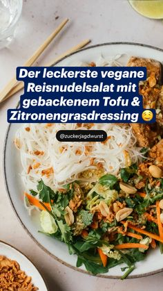 Easy Healthy Recipes, Healthy Cooking, Lunch Recipes, Asian Recipes, Vegetarian Recipes, Easy Meals, Vegan Pasta, Lunches And Dinners, Going Vegan