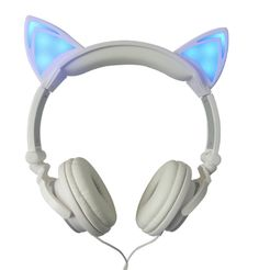 Cat Ears Earphones with led lights.  Find them here www.katloveskat.myshopify.com in out Handbag and Accessories Collection