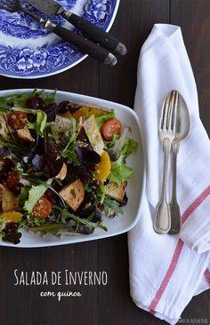 """Winter salad with SEMENTINA quinoa by """"Bocadinhos de açúcar"""" blog"""