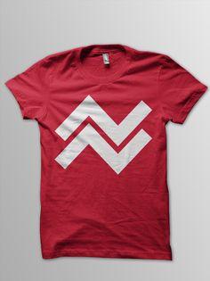Camiseta roja a una tinta