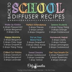 Essential oil diffuser blends for school & studying