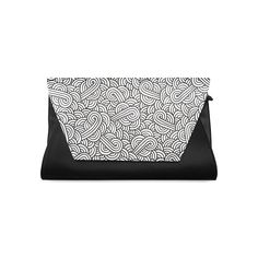 Black and white swirls zentangle Clutch Bag (Model 1630) by @savousepate on @artsadd