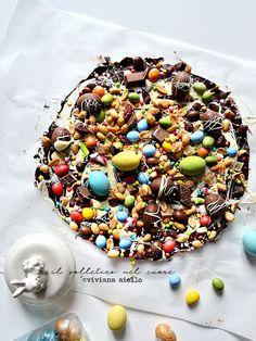 il solletico nel cuore: Tavoletta di cioccolato decorata Chocolate Cookies, Biscotti, Sprinkles, Easy Meals, Dessert, Candy, Breakfast, Recipes, Food
