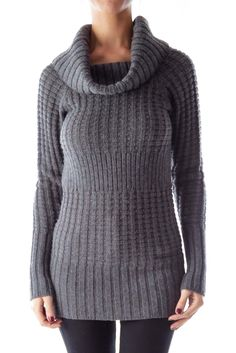 Like this Armani Exchange sweater? Shop this without using money! Trade. Shop. Discover. #fashionexchange #prelovedfashion  Gray Knit Turtleneck Sweater by Armani Exchange