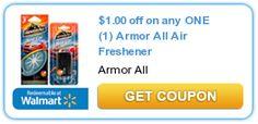 Hot Coupon: $1/1 any Armor All Air Freshener! $1.64 at Walmart!!