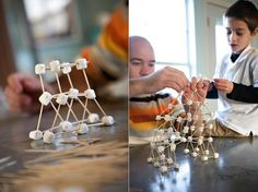 Building with marshmellows & toothpicks... now that's creative!