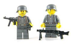 Custom LEGO German Soldier WWII minifig  army builder Lego Ww2, Lego Army, Lego Boards, Lego Builder, Lego Minifigs, Lego Modular, Military Figures, Lego Figures, Jethro