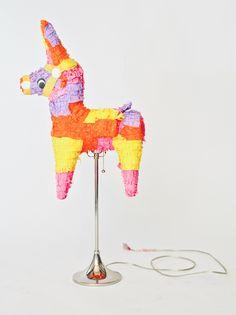 Use this tutorial to make a piñata lamp.