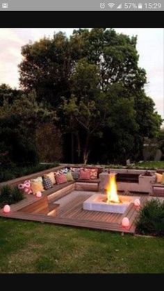 Out door seating built in ground