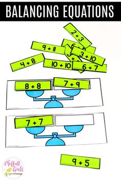 Balancing Equations: This fun 1st Grade Math activity helps students practice addition in a hands-on way!
