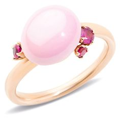Pomellato Ring Capri ($1,090) ❤ liked on Polyvore featuring jewelry, rings, pink, round ring, pomellato, pomellato jewelry, pink ring and pink jewelry