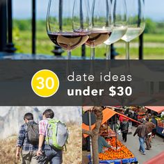 30 date ideas under $30. Most of these are terribly lame and Adam would hate, but a few are good - like trivia night!