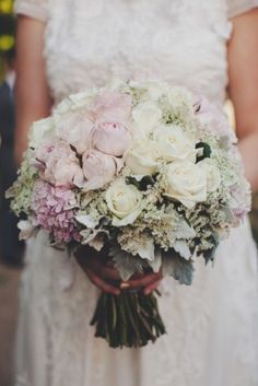 light pink and white rose bouquet // photo by Samm White Rose Bouquet, Blush Bouquet, White Roses, Pink White, Yellow, Bride Bouquets, Bridesmaid Bouquet, Floral Wedding, Wedding Flowers