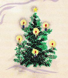 Candlelit tree.