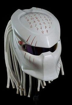 Amazing Predator Bike Helmet by Graf X Custom Paintwork