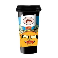 Adventure Time Card Wars 16 oz. Travel Mug @ niftywarehouse.com #NiftyWarehouse #AdventureTime #TVShow #Cartoon #Show #CartoonNetwork