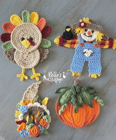 Ravelry: Fall Harvest Collection pattern by Jen Mitchell - Nellas Cottage