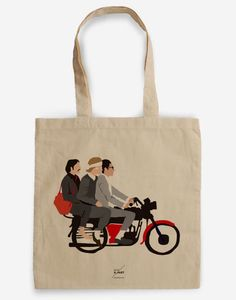 The Darjeling Limited Tote Bag - A Tribute to Wes Anderson by BagApart on Etsy https://www.etsy.com/listing/207236127/the-darjeling-limited-tote-bag-a-tribute