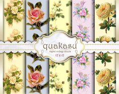 Classic Floral - Digital Paper Pack Digital Paper Scrapbook Paper Digital Collage Sheet Floral Decoupage