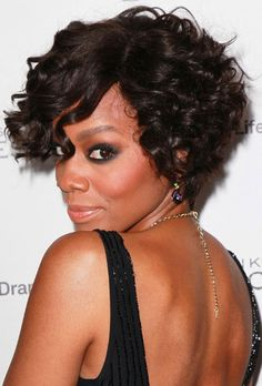 Cute Short Curly Hairstyles For Black Women ~ http://wowhairstyle.com/trendy-short-curly-hairstyles-for-black-women/