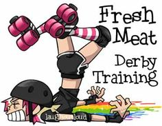 Fresh Meat Roller Derby Training Humorous Tshirt by ilaughoutloud, $11.00