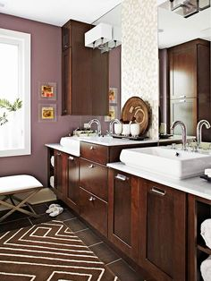 Purple: Just Plummy      Rooms bathed in natural light balance saturated plum walls. In rooms with little light, use the hue as an accent.        -- Elaine Griffin, New York City-based interior designer