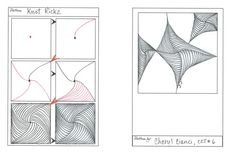 How to draw KNOT RICKZ tangle pattern  « TanglePatterns.com