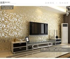 Fashion Wallpaper Picture   More Detailed Picture About Wallpaper Bedroom  Wallpaper Jane Europe PVC TV Setting · Grey Walls Living RoomLiving ...