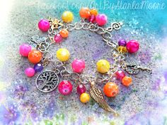 Mother's Day ChunkCharm Bracelet by ArtbyStarlaMoore on Etsy, $30.00