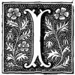 letter i | letter i drop cap image decorated letter i drawing of a letter i and ...