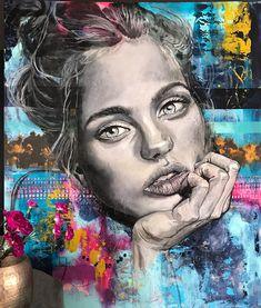 Classic streetart Norway, Original Paintings, Portrait, Creative, Classic, Animals, Derby, Animales, Headshot Photography