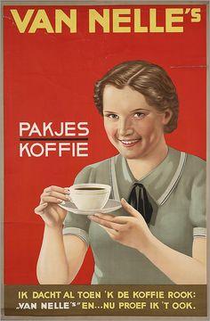 Van Nelle's pakjes koffie - Van Nelle vintage Coffee poster