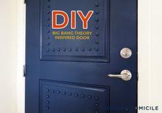 trendy home improvement humor front doors Door Studs, Front Door Colors, Front Doors, Seaside Decor, Door Makeover, Trendy Home, Do It Yourself Home, Big Bang Theory, Bars For Home