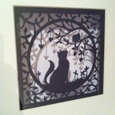 Handmade paper cut, made to remember one of our cats that passed away RIP Blacky....
