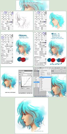SAI Brush Setting+how they're used + Walkthrough by Qinni.deviantart.com on @deviantART