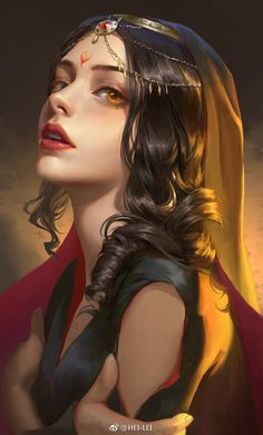 If you are interested in drawing a beautiful fantasy girl, then I hope this article is going to help you. I want to show you some awesome ideas for how to draw your fantasy girl. Digital Art Girl, Digital Portrait, Portrait Art, Digital Art Fantasy, Fantasy Girl, Fantasy Women, Fantasy Princess, Female Images, Female Art