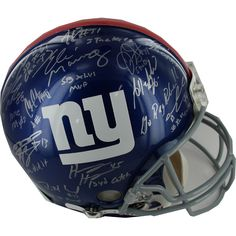 2011 New York Giants Team Signed Authentic Helmet w Insc. (27 Sigs) - The 2011 New York Giants won the NFC East Division with a 9-7 record and went on to beat the Falcons Packers 49ers and Patriots in the Big Game to win their 4th NFL Championship! This New York Giants helmet has been hand signed by over 20 members of the 2011 New York Giants SB Champion team including: Eli Manning Victor Cruz Mario Manningham Michael Boley Jason Pierre-Paul Justin Tuck Mathias Kiwanuka Ahmad Bradshaw Prince…