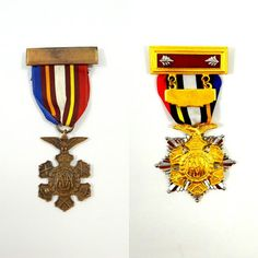 Army Navy Union Medals from the Vietnam Era by ElizaBellaVintage
