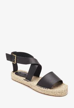 Sandalias Efecto Cuero Esparto - calzado - 2002247257 - Forever 21 EU