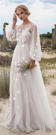 Fabulous Tulle Jewel Neckline Natural Waistline A-line Wedding Dress With Beaded Lace Appliques