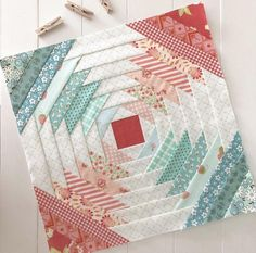 Pineapple Quilt Pattern, Pineapple Quilt Block, Jelly Roll Quilt Patterns, Paper Piecing Patterns, Quilt Kits, Quilt Blocks, Coral Aqua, Fall Quilts, Miniature Quilts