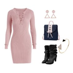 Cute pink dress and cute accessories. #partyoutfit #outfit #Party2018 #pink #partydress #stylish #dress #cute #lovely